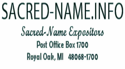 Sacred Name Expositors Mailing Address